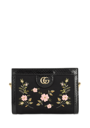 Ophidia Embroidered Satin Clutch