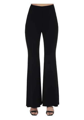 Stretch Jersey Flared Pants