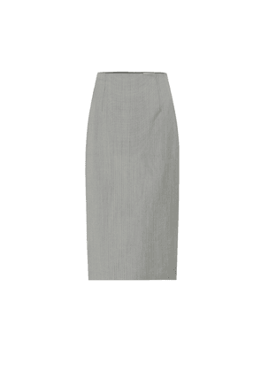 High-rise pencil wool midi skirt