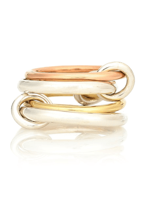 Hyacinth 18kt gold and sterling silver linked rings