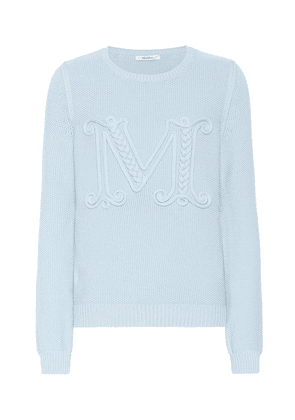 Gala logo embroidered cotton sweater