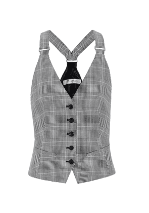 Arley checked cotton vest