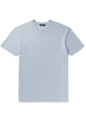 TOM FORD - Slim-fit Lyocell And Cotton-blend Jersey T-shirt - Blue