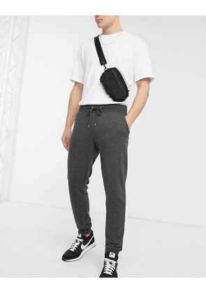 ASOS DESIGN tapered joggers in charcoal-Grey