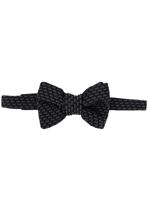 Tom Ford geometric patterned bow tie - Blue