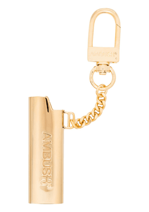 AMBUSH embossed logo lighter case keychain - GOLD
