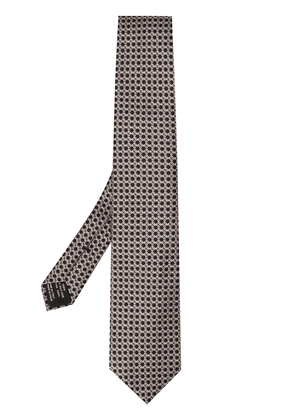 Tom Ford dotted-pattern silk tie - Grey