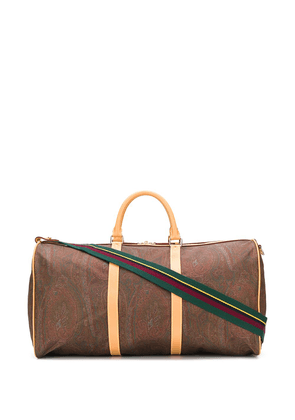 Etro paisley print holdall bag - Brown
