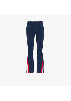 Perfect Moment Womens Blue Flared Stripe Detail Ski Trousers