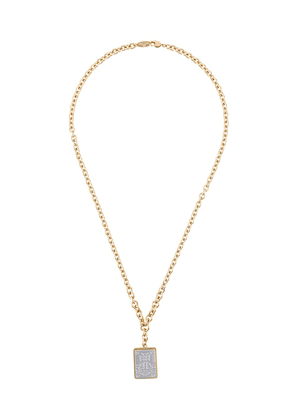 Vivienne Westwood embossed logo charm necklace - GOLD
