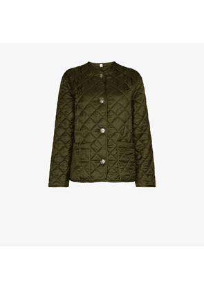 Burberry Bardsey collarless quilted jacket