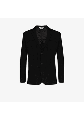Comme Des Garçons Homme Plus pintucked single-breasted blazer