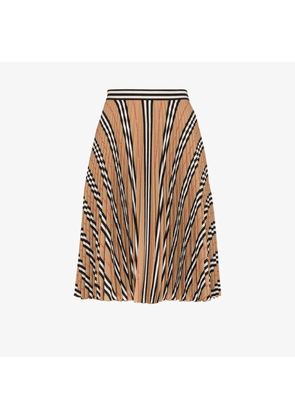 Burberry Rersby Vintage check pleated silk skirt