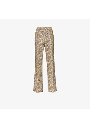 Etro printed silk cotton tailored trousers