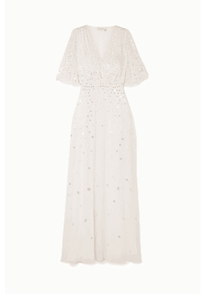 Temperley London - Topiary Sequined Chiffon Gown - Ivory