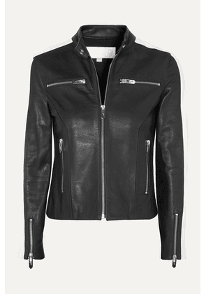 The Mighty Company - The Lucca Two-tone Leather Jacket - Black