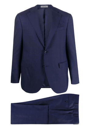 Corneliani windowpane check wool suit jacket - Blue