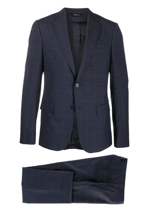 Z Zegna checked two-piece suit - Black