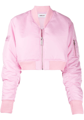 AMBUSH cropped bomber jacket - PINK