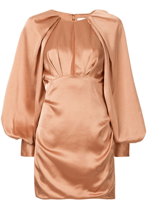Acler Paringa balloon sleeves dress - NEUTRALS