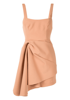 Acler draped asymmetric dress - Brown