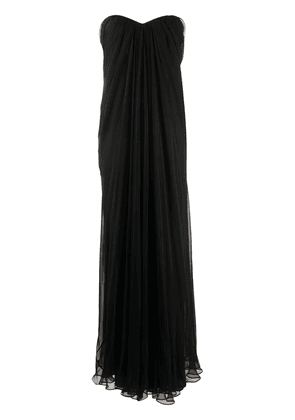 Alexander McQueen draped details long dress - Black