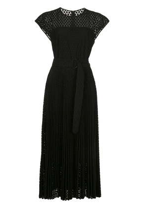 Akris Punto silk flared midi dress - Black