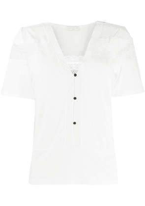 Sandro Paris lace-embroidered blouse - White