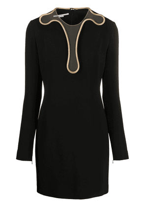 Stella McCartney Isabela chain-trim mini-dress - Black