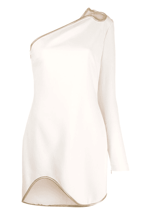 Stella McCartney Dianna one-shoulder mini-dress - NEUTRALS