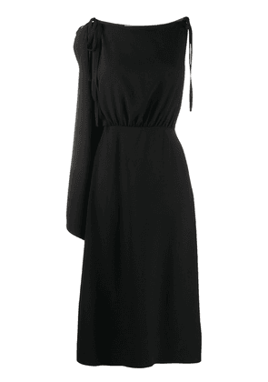 Prada one shoulder midi dress - Black