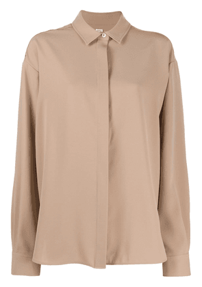 Totême long-sleeve fitted shirt - NEUTRALS