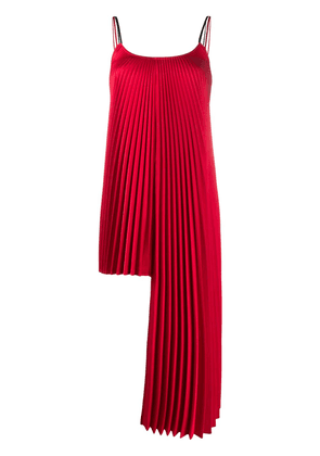 Peter Do square neck pleated detail blouse - Red