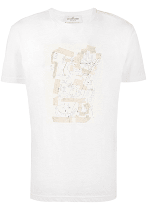 Jean-Michel Basquiat X Browns Rome Pays Off alice t-shirt - White