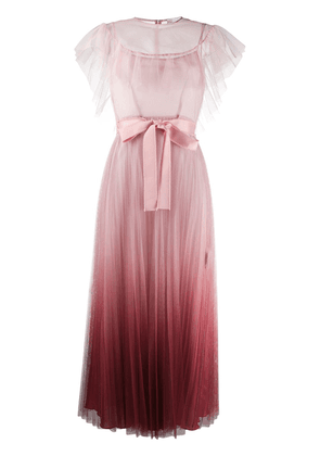 RedValentino pleated tulle maxi dress - PINK
