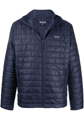 Patagonia zip up square-quilt jacket - Blue