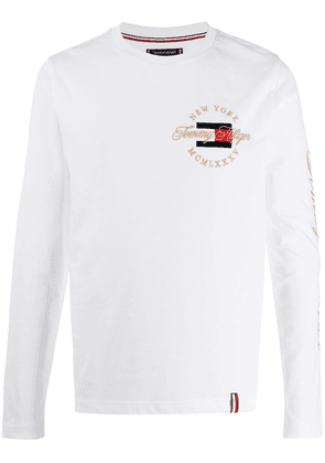 Tommy Hilfiger long-sleeve logo T-shirt - White