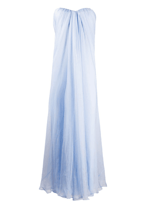 Alexander McQueen draped details long dress - Blue