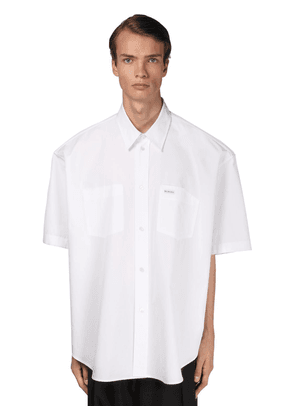 Logo Cotton Poplin Boxy Fit Shirt