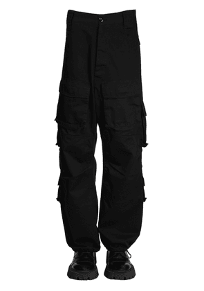 Cotton Gabardine Cargo Pants