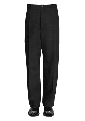 Baggy Wool Blend Tailored Pants