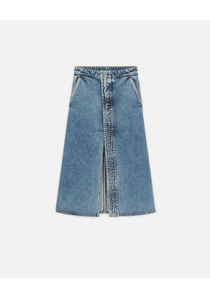 Stella McCartney Blue Vintage Denim Skirt, Women's, Size 6