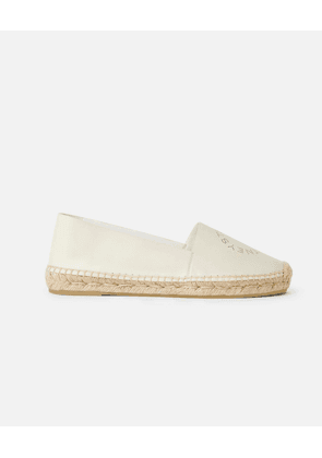 Stella McCartney Cream Stella Logo Espadrilles, Women's, Size 3