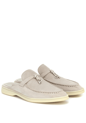Babouche Charms Walk suede mules