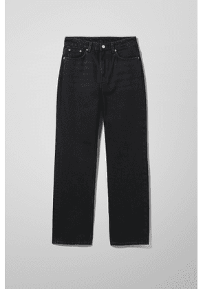 Voyage High Straight Jeans - Black
