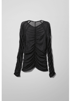 Lorenza Mesh Long Sleeve - Black