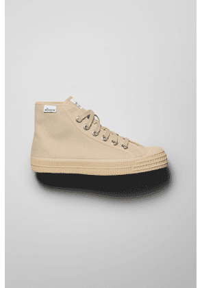 High Top Sneakers - Beige