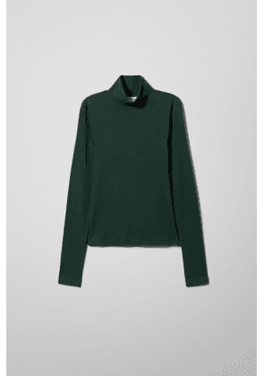 Verena Ribbed Turtleneck - Green
