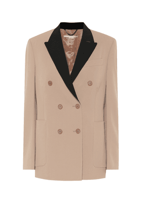 Stretch-wool double-breasted blazer