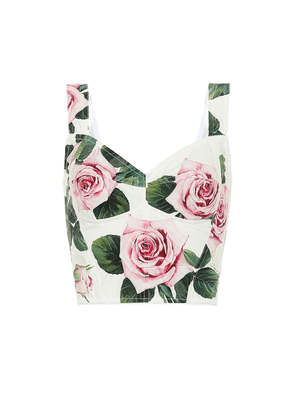 Floral cady bustier